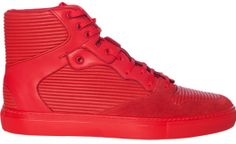 Red pleated Balenciaga sneakers ($615)