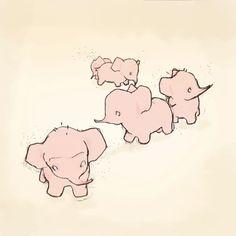 love me some pink elephants