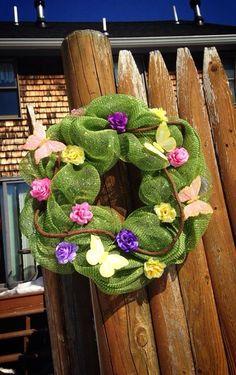 Deco Mesh Spring wreath