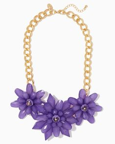charming charlie | Sprouting Floral Purple Necklace | UPC: 400000171883 #charmingcharlie