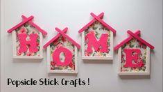 Ide Kreatif Stik Es Krim Hiasan Dinding Home Wall Decor Popsicle Stick Kreatif Hiasan Ide