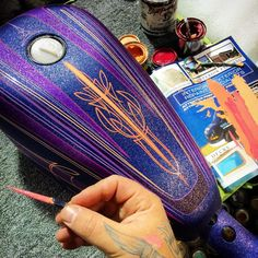 Harley-Davidson XL Sportster post-2004 gas tank paint by Mroz designs