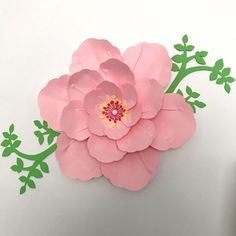 94 best paper flower diy videos images on pinterest giant paper cherry blossom time check out this template is available in our store paper flower mightylinksfo