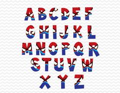 Spider hombre alfabetos superhéroe alfabeto por ABCSongShop