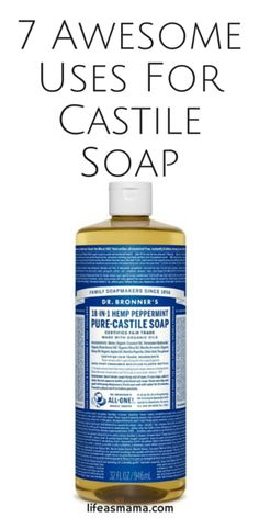 Castile soap originated in Spain (Castile, to be specific) and was formulated using olive oil. You can still find olive oil-based castile soap, and versions made with other vegetable oils too. It's known for it's very concentrated, gentle and versatile nature and has tons of uses! Here are 7 of them.