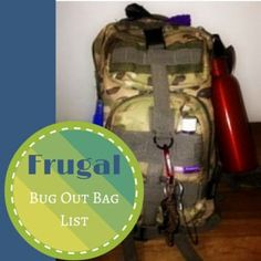 Lots of dollar store preps in this frugal bug out bag list!