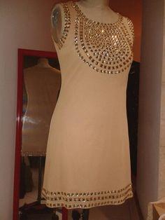 Cocktail dress with rhinestones embellishments