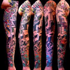 geometric tattoo @neotattoos