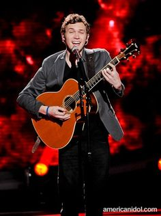 "Phillip Phillips. Amazing voice, awesome name, looks like boo-ski. And ""home"" gives me chills"