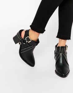 Senso | Senso – Owen I – Ankle-Boots aus schwarzem Leder mit Cut-outs im Westernstil bei ASOS