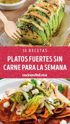 10 recipes of meatless main dishes for the whole week - You should not always use meat for any food dish, that& why we bring you these recipes for me - Healthy Breakfast Recipes, Healthy Cooking, Veggie Recipes, Healthy Dinner Recipes, Mexican Food Recipes, Healthy Snacks, Vegetarian Recipes, Cooking Recipes, Mets