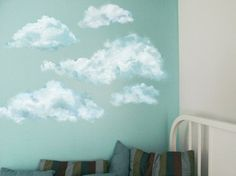 Set of 5 Blue Clouds Nursery Wall Decals Not by PetiteNatureDecals