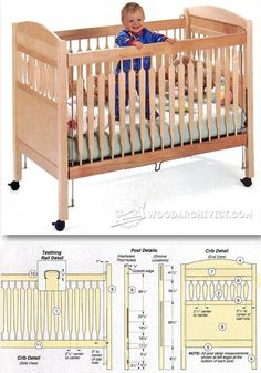 Baby Crib Plans - Children's Furniture Plans and Projects   WoodArchivist.com