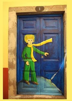 Funchal. Madeira, Old town door. Le Petit Prince