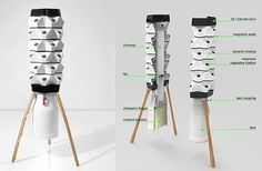 "Share Tweet Pin Mail The Fogger is Hamburg-based studio, Vakant Design's concept for a highly efficient, indoor-outdoor vertical garden ""fogponic"" planting system. A nearly self-sustainable alternative to the traditional edible garden and great for those with small urban spaces, the … Read More..."