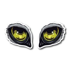 Monster Eyes Vinyl Sticker Eye Stickers, Clear Stickers, Monster Stickers, Monster Eyes, White Ink, Colorful Backgrounds, White Tattoos