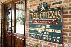 Taste of Texas, Houston, TX. Choose your own steak. Mmm.