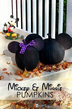 Mickey & Minnie Mouse Pumpkin Craft