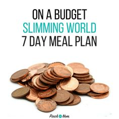 On A Budget - 7 Day Slimming World Meal Plans - Pinch Of Nom