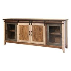 "#Houzz - #san carlos imports llc Rustic Muluti-Color 79"" TV Stand - AdoreWe.com"