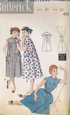 """VINTAGE MORNING COAT Sewing Pattern BUTTERICK 7139 SIZE 12 BUST 30 HIP 33"""" CUT"""