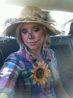 scarecrow face paint  halloween ideas  pinterest