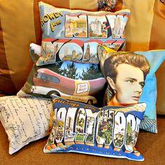 Make Vintage Postcard Pillows! #MarkMontano #MakeYourMark #Vintage #FairfieldWorld #PolyFil #HomeDecor