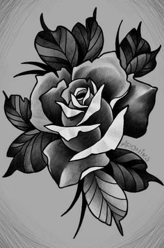 Rose Drawing Tattoo, Flower Art Drawing, Tattoo Design Drawings, Tattoo Sketches, Neo Tattoo, Arm Band Tattoo, Floral Tattoo Design, Flower Tattoo Designs, Neo Traditional Roses