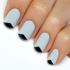 Grey + black triangle tip