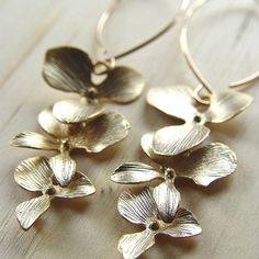 Orchid Flower Earrings RUB9
