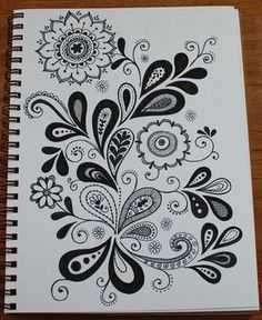 paisley/flower doodle...looks like folk are...might be gorgeous in color too...