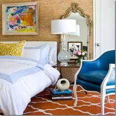 The eclectic bedroom