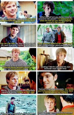 """Merlin and Arthur, sassing each other. """"You're threatening me with a spoon?"""""""