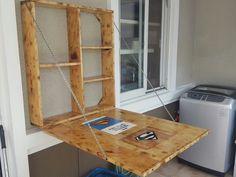 43 ideas diy shelves cabinet cupboards for 2019 Outdoor Kitchen Cabinets, Mud Kitchen, Diy Wedding Lighting, Murphy Desk, Drop Down Desk, Cupboard Lights, Diy Crafts For Bedroom, Diy Headboards, Floating Shelves Diy