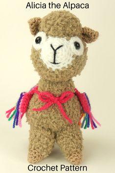 Alicia the Alpaca - Amigurumi Crochet Pattern #ad