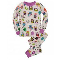 Hatley - Party Owls Kids' Overall Print Pajama Set GOT