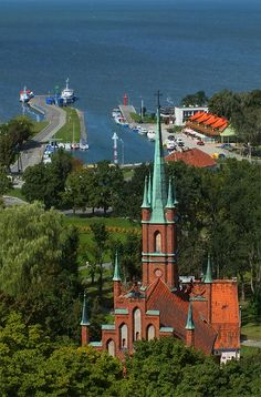 """Frombork by rychem, """"In the picture you can see the St. Wojciech church and a small port in Frombork."""" [Poland]"""