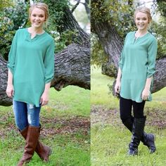 Wear it with jeans or leggings…either way it looks fabulous!! $36 free shipping- This tunic will be available at 8pm cst!! #sheertunic #fallfavs #musthaves #perfection #effortless #throwonandgo #fashionandstyle #toptrends #newarrivals #retailtherapy #latesttrends #freeshipping   (at http://www.hazelandolive.com)