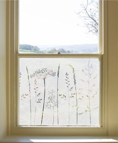 frosted window film In The Tall Grass Window Film Hannah Nunn Frosted Glass Design, Frosted Glass Window, Glass Porch, Sandblasted Glass, Window Privacy, Window Films, Bathroom Windows, Window Design, Window Coverings