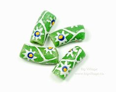 Our recycled glass beads are made in Ghana, West Africa. Tribes In Ghana, West Africa, Recycled Glass, Fair Trade, Glass Beads, Recycling, Hand Painted, How To Make, Crafts