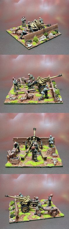 Waffen SS 105mm Artillery Scale: 1/56(28mm) Manufacturer: Warlord Games UK Game: BOLT ACTION Painted by: OMP(Olsianon Miniatures Painting)