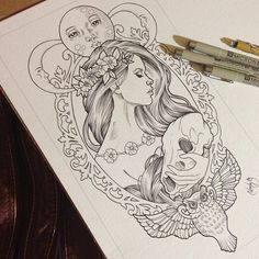 .@Wendy Ortiz | Finally finished inking this commissioned tattoo design for a very awesome cl...
