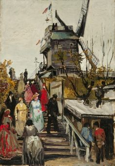 Le Blute-Fin Mill - Vincent van Gogh - circa: 1886 - Place of Creation: Montmartre, Paris, France ..............#GT