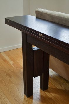 transformer-table - collapsible table for apartment.  Perfect for behind a couch