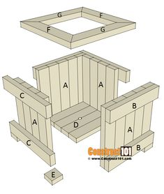 planter box plans - exploded view - material list, PDF at Woodworking Workshop Plans, Woodworking Furniture Plans, Woodworking Projects Diy, Diy Wood Projects, Woodworking Classes, Popular Woodworking, Planter Box Plans, Wood Planter Box, Diy Wooden Planters