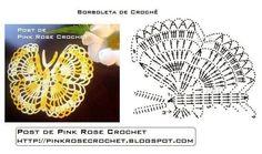 Materiales gráficos Gaby: Accesorio mariposa en ganchillo incluye molde