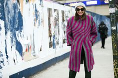 The Best Street Style From New York Fashion Week Top Street Style, Nyfw Street Style, Autumn Street Style, Cool Street Fashion, Fashion Week 2016, Winter Outfits, New York, My Style, Coat