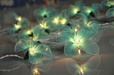 Blue Flower Fairy String Lights For Bedroom Indoor String Lights Fairy Lights Decorative hanging Lights, Flower String Fairy Lights