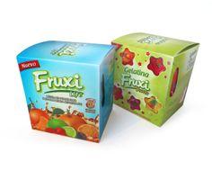 Diseño de Empaque para FRUXI, de bebidas y gelatinas