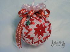 Sweet Love  Red Pink and White Hearts by DelightfullyOrnament, $22.00